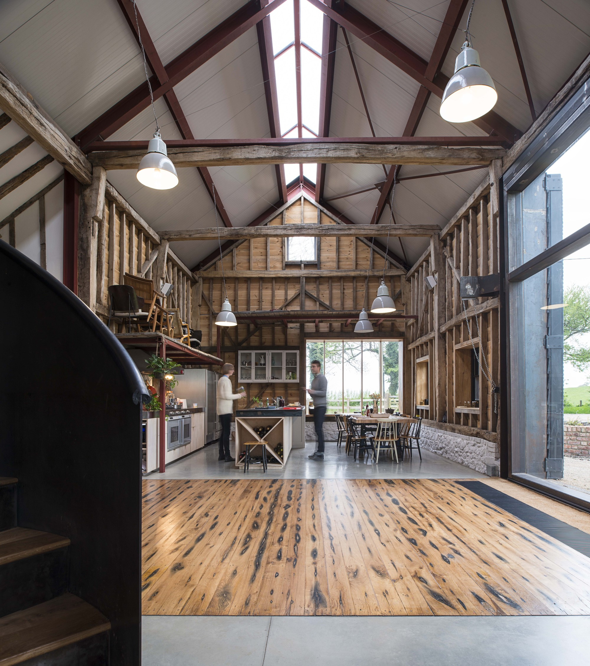 The Ancient Party Barn Liddicoat Goldhill Archdaily