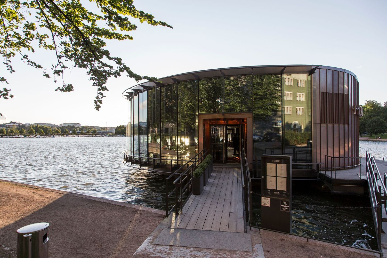 Restaurant exterior architecture - Floating Restaurant Esko Tuomisto