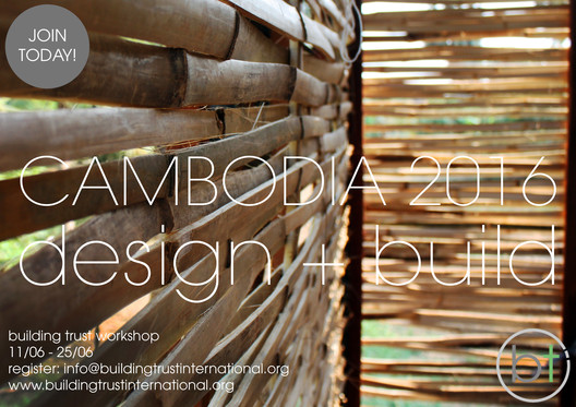 Bamboo Design + Build Workshop, Cambodia 2016