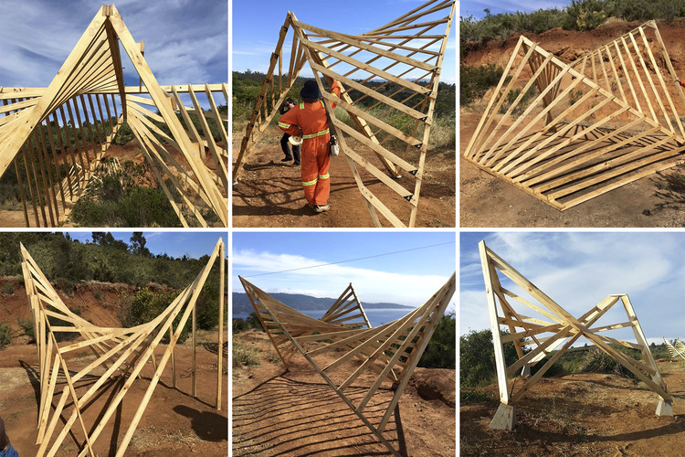 Following the Principles of Félix Candela: An Experimental Wood Workshop in Chile, Cortesía de Taller Materialidad UTFSM 2015
