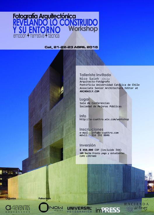 Workshop Fotografía Arquitectónica: Revelando lo Construido y su Entorno, Centro de Innovación UC-Anacleto Angelini, Arq. Alejandro Aravena/ELEMENTAL. Foto Nico Saieh