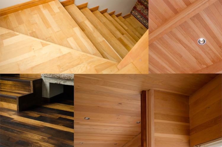 Materiales pisos y revestimientos en madera de lenga de for Materiales para pisos exteriores