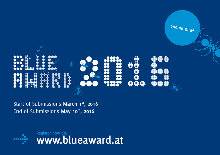 Call for Submissions: Blue Award 2016 , Blue Award 2016 - SUBMIT NOW