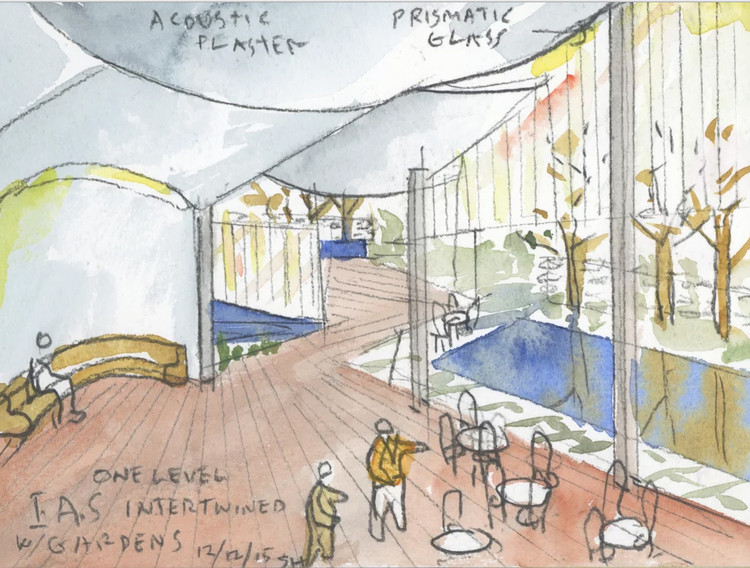 Steven Holl Architects Wins Competition to Design Rubenstein Commons at Institute for Advanced Study, Courtesy of Steven Holl Architects