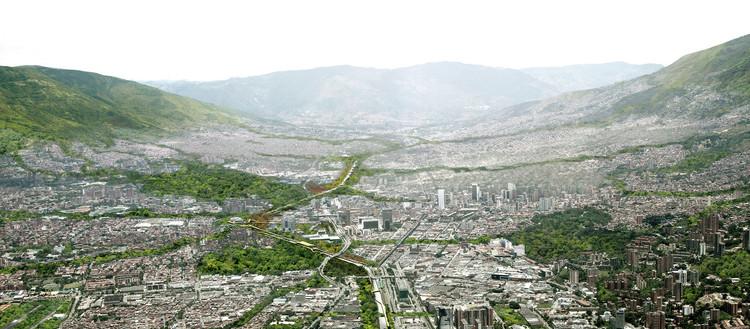Medellín recebe prêmio internacional por sua transformação urbana, Proposta vencedora para o concurso Parque do Río (2013) em Medellín. Imagem Cortesia de Latitud Taller de Arquitectura y Ciudad