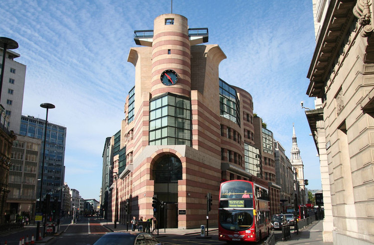 Terry Farrell Among Speakers at Forthcoming Conference on Postmodernism, James Stirling's No.1 Poultry, London. Image © Flickr user merula licensed under CC BY-SA 2.0