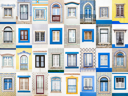 Windows of Ericeira. Image © Andre Vicente Goncalves