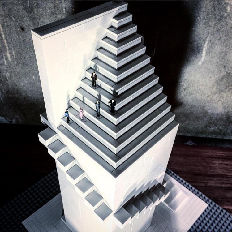Arndt Schlaudraff recrea íconos de la arquitectura con bloques Lego, vía Instagram