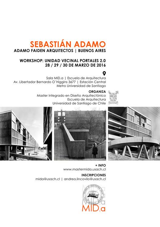 Workshop Unidad Vecinal Portales 2.0 | Sebastián Adamo / USACH, Workshop Sebastian Adamo en USACH