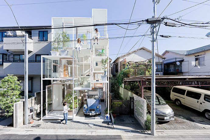 8 Creative Ways to Integrate Parking into Residential Design, House NA / Sou Fujimoto Architects © Iwan Baan