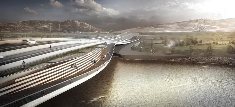 Melike Altınışık Architects Wins First Mention in Competition for Kızılırmak Bridge in Turkey, Courtesy of Melike Altınışık Architects