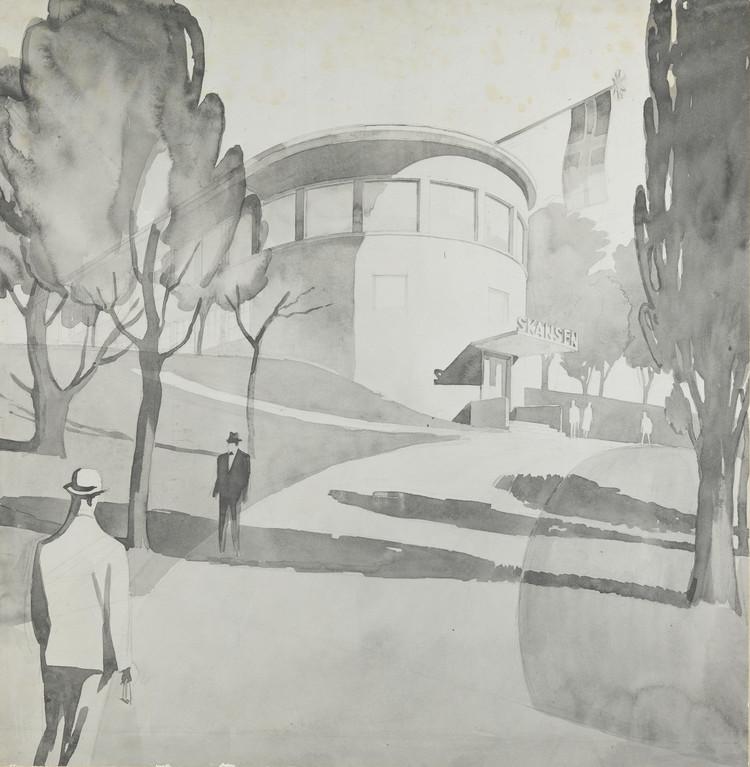 Lars Backer – A Pioneer of Norwegian Modernism, Lars Backer, Restaurant Skansen, Oslo, 1927. Photo: Platou arkitekter
