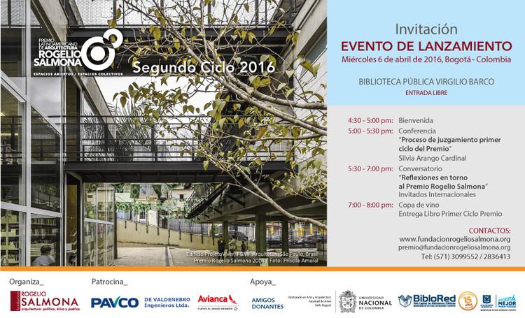 Premio Latinoamericano de Arquitectura Rogelio Salmona: espacios abiertos/espacios colectivos