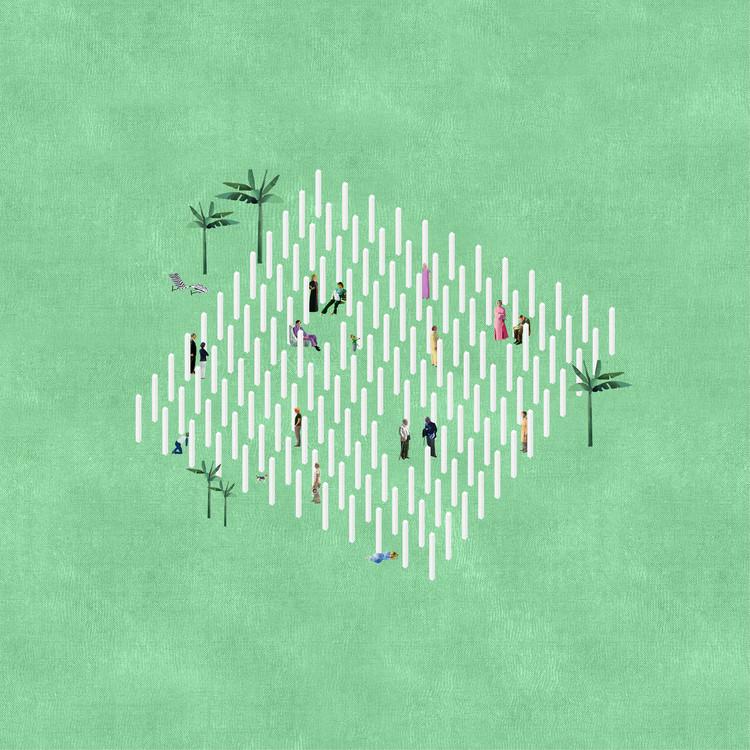 12 oficinas que representan atmósferas arquitectónicas usando collage, Proyecto: Architectural Follie. Imagen Courtesía de Fala Atelier