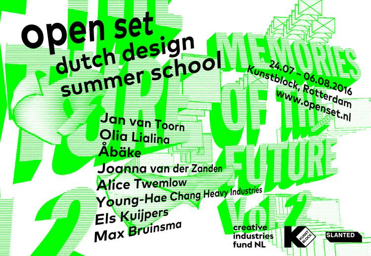 Call for Applications: Dutch Design Summer School, Open Set Dutch Design Summer School