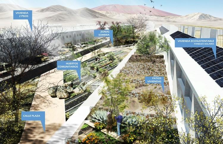 Inician construcción del primer barrio ecosustentable de Chile en Chañaral, Región de Atacama, Cortesía de  Centro UC de Innovación en Madera