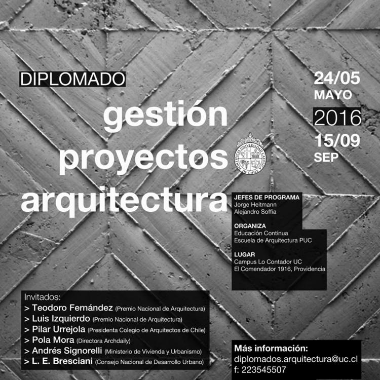 Diplomado UC en Gestión y Administración de Oficina y Proyectos de Arquitectura: ¡Sorteamos una Beca!, Educación Continua Arquitectura UC