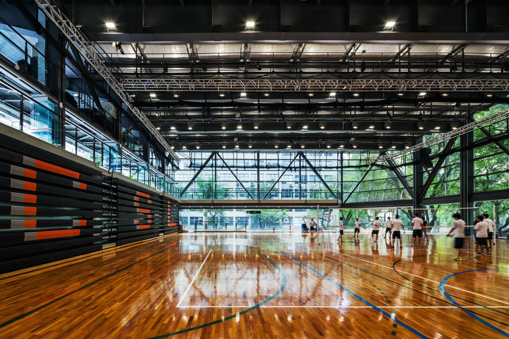 S 227 O Lu 237 S Sports Amp Arts Gymnasium Urdi Arquitetura