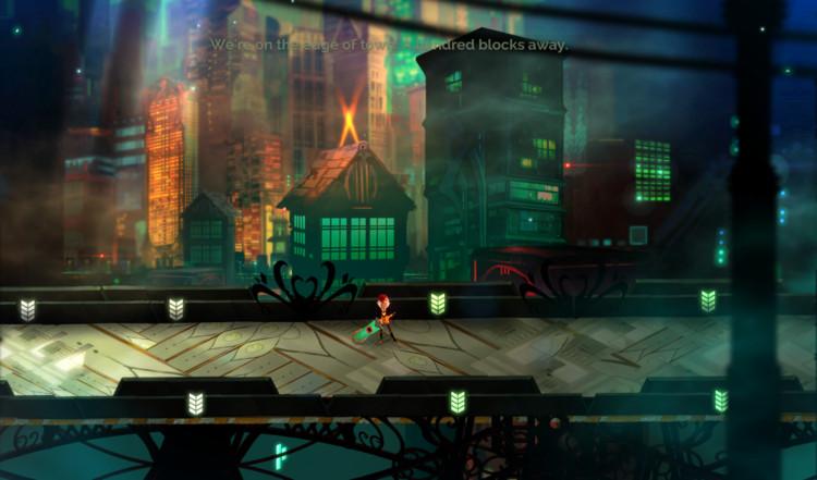 Una ciudad llamada Cloudbank, Cloudbank. Image © Supergiant Games