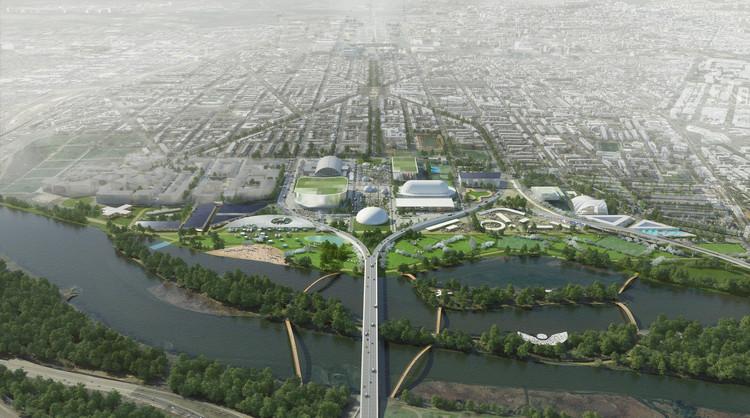 """OMA revela dos planes de remodelación del Estadio RFK en Washington DC, """"Stitch"""" Plan. Image © Robota"""