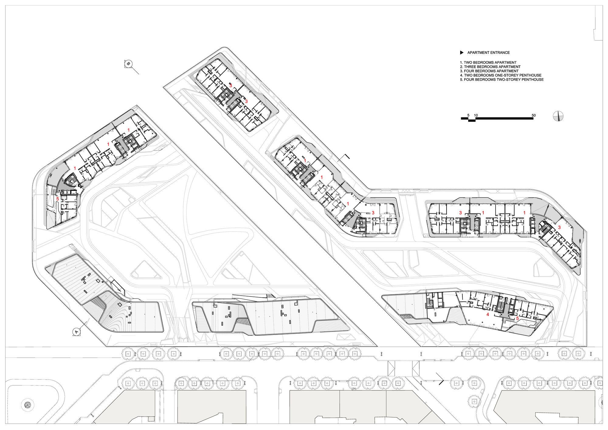 Gallery of Citylife Apartments / Zaha Hadid Architects - 14