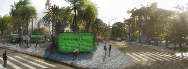 Resultados do concurso #014 Projetar.org - Bicicletário do Recife, Primeiro Lugar. Image Cortesia de Projetar.org