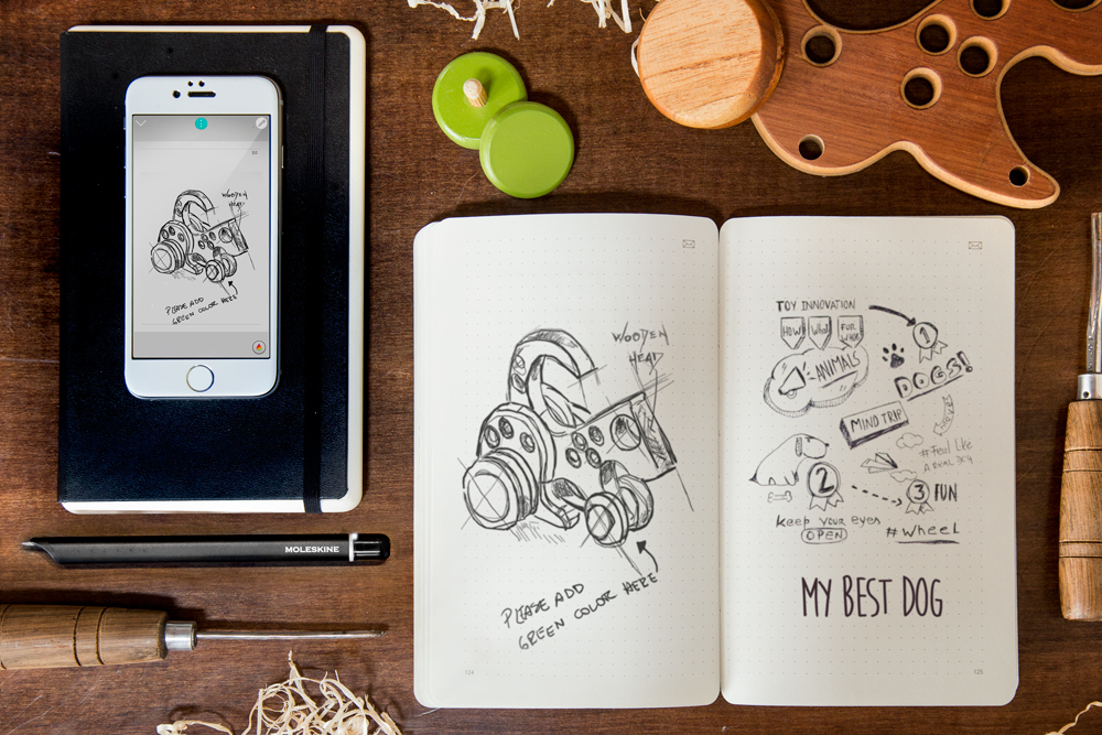"""Moleskine Synchronizes Analog and Digital Sketching with their """"Smart Writing Set"""""""