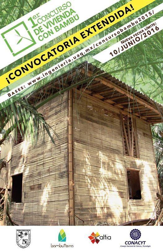 Convocatoria extendida del 1° Concurso de Vivienda con Bambú