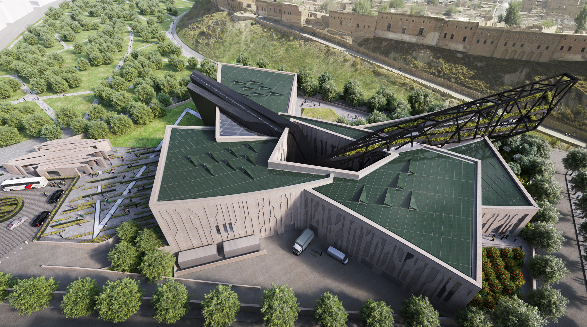 daniel libeskind unveils design for the kurdistan museum in erbil iraq archdaily. Black Bedroom Furniture Sets. Home Design Ideas