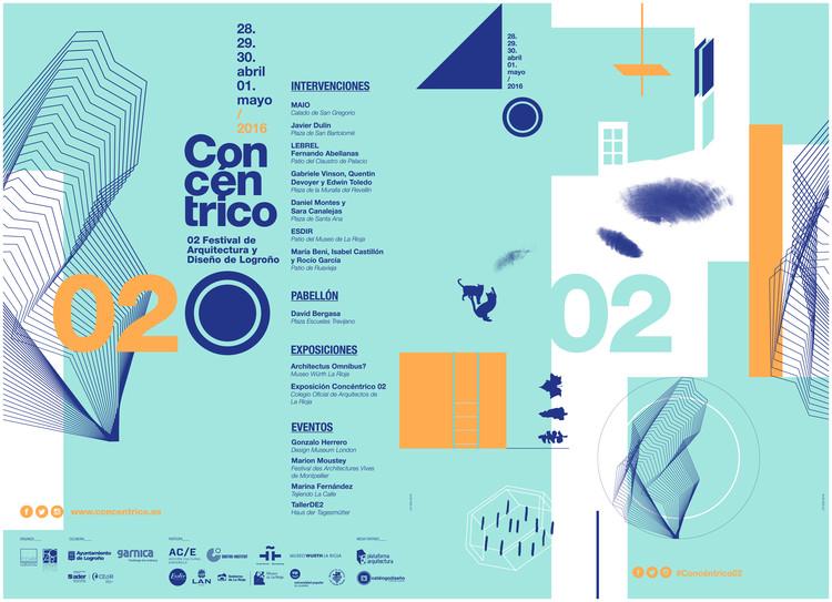 Conoce las 8 intervenciones públicas de Concéntrico 02, Afiche oficial. Image Cortesía de Concéntrico