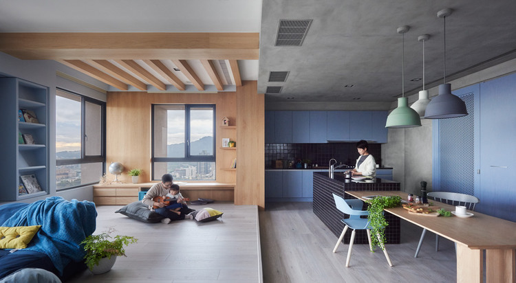 Apartamento Blue and Glue / HAO Design, © Hey! Cheese