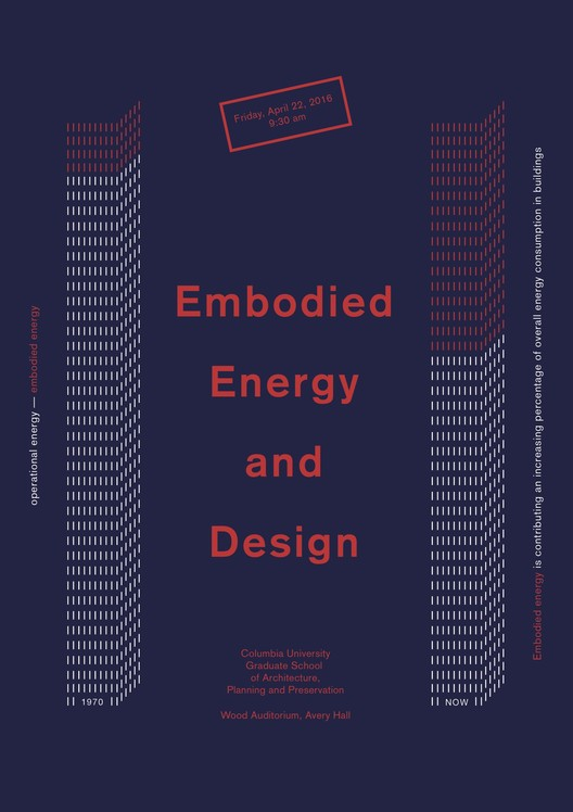 Conference: Embodied Energy and Design