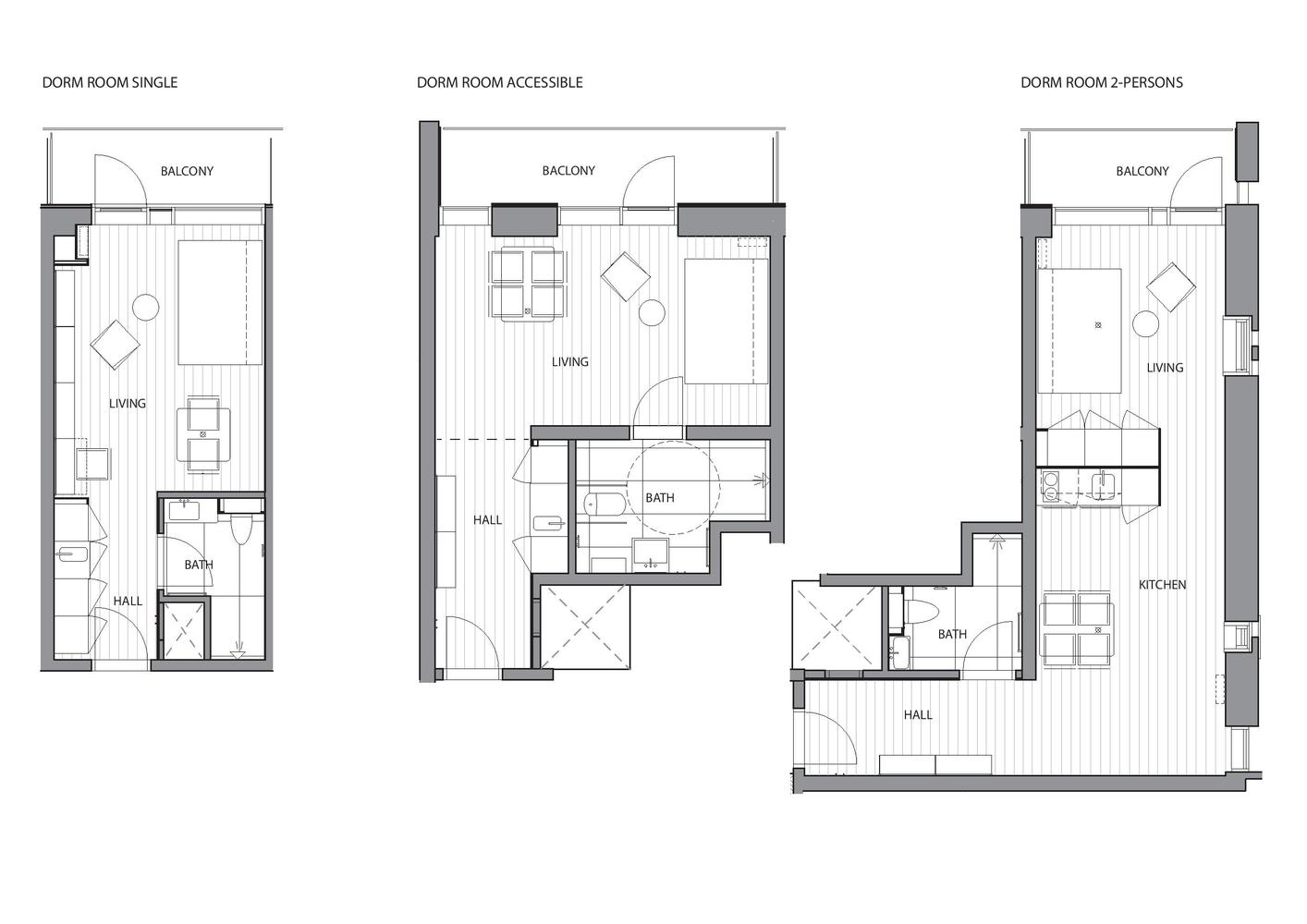 Student Housing,Dorm_ Room Plan Part 64