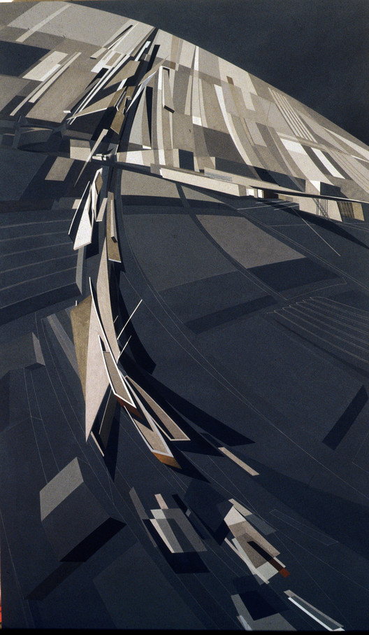 Painting (Zaha Hadid). Image Courtesy of Zaha Hadid Architects