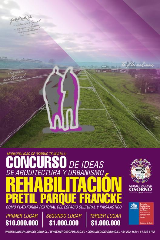 Concurso de Ideas de Arquitectura y Urbanismo: rehabilitación del pretil Parque Francke, Afiche Municipal + CNCA