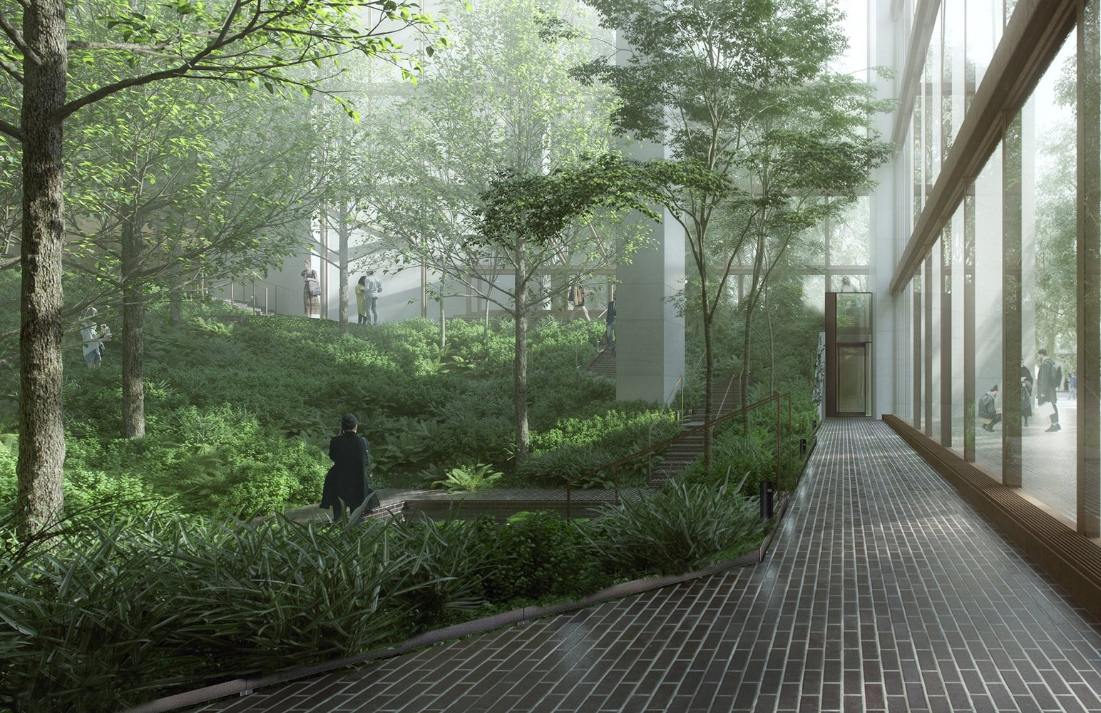 Ford foundation renovations by gensler approved by new york landmarks commissionrendering of proposed modifications