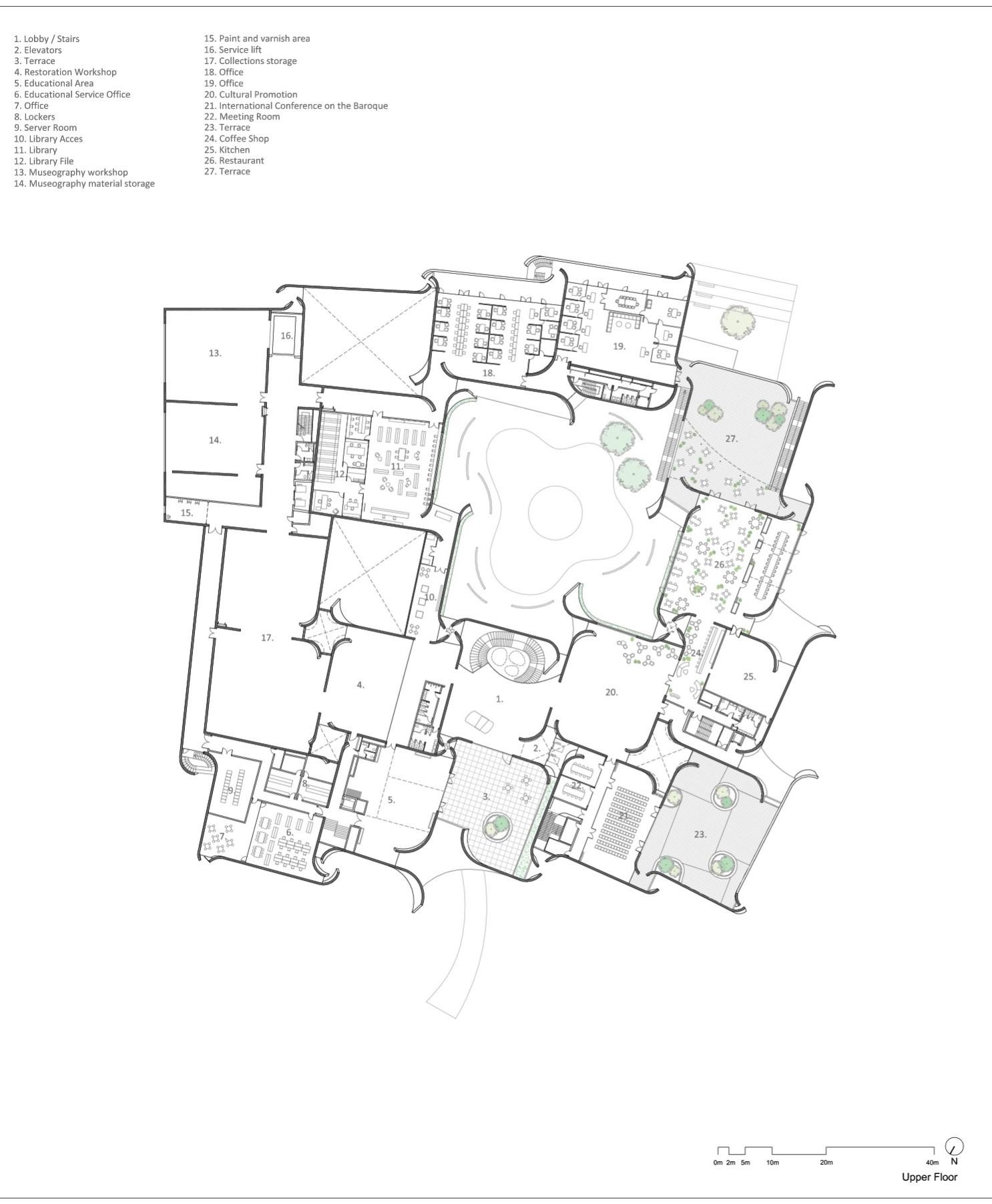 Galeria de museo internacional del barroco toyo ito 34 for International architecture internships