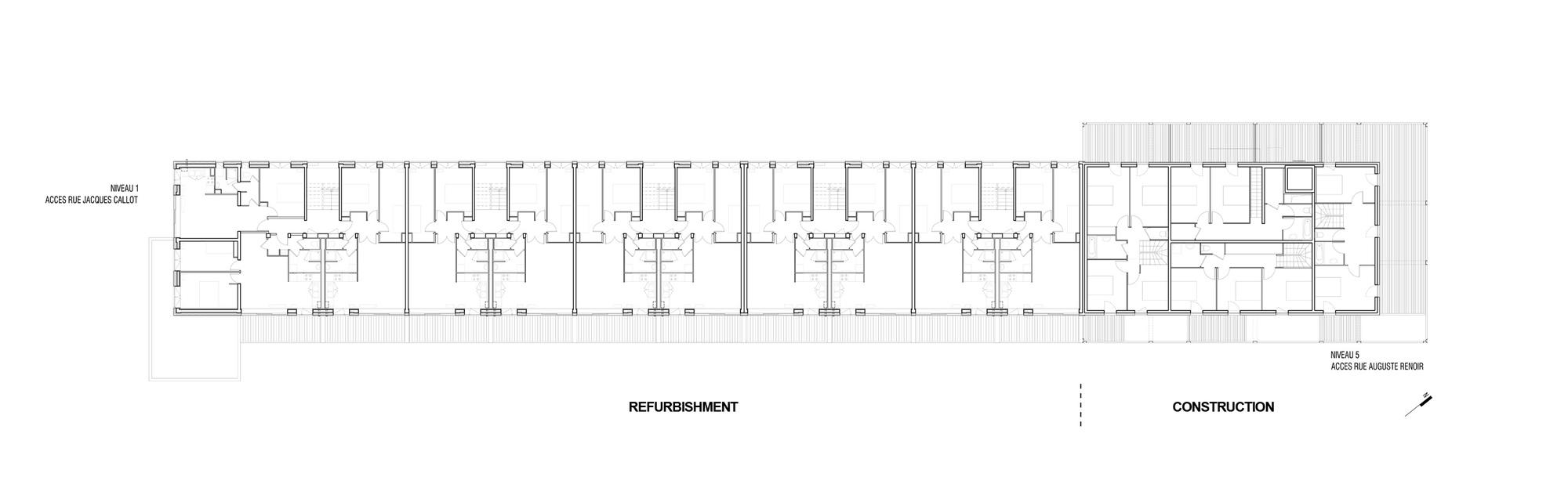 gallery of callot b1 housing jacques boucheton architectes 12. Black Bedroom Furniture Sets. Home Design Ideas