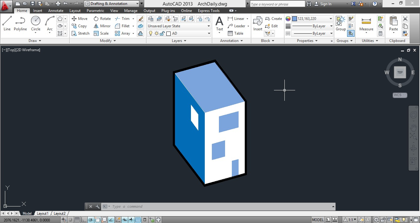 Drawing Lines In Autocad Using Coordinates : Autocad commands you should know archdaily