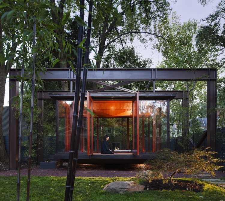 tea house david jameson architect archdaily rh archdaily com backyard japanese tea house yard house tea