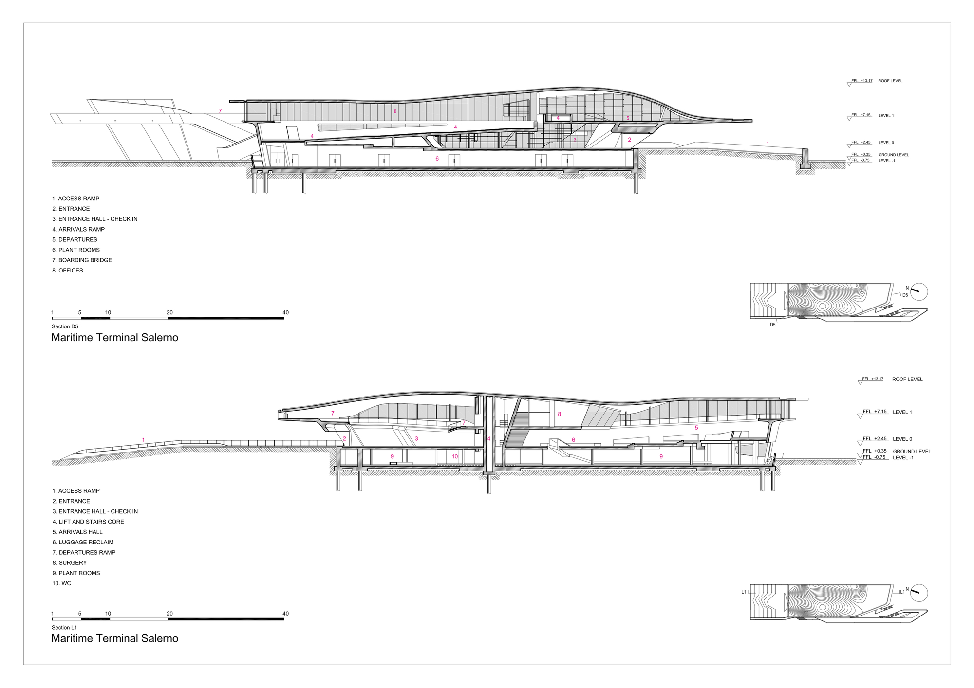 Changi Airport Floor Plan Gallery Of Salerno Maritime Terminal Zaha Hadid