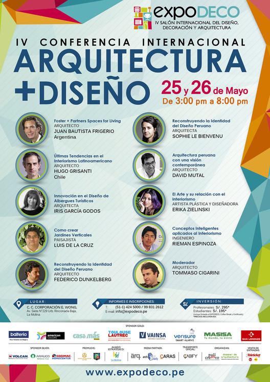 IV Conferencia Internacional Arquitectura + Diseño / Expodeco 2016, Cortesía de EXPODECO