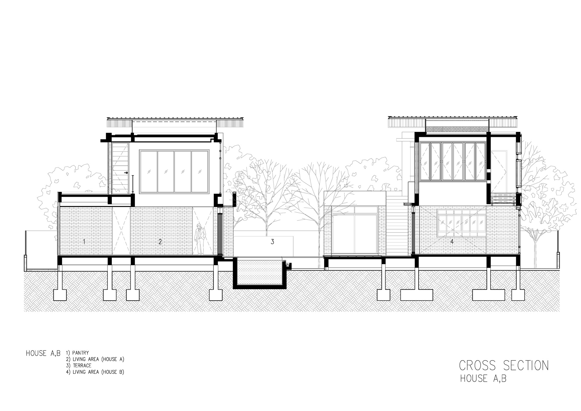 How To Draw Stairs In A Floor Plan Gallery Of Two Houses At Nichada Alkhemist Architects 26