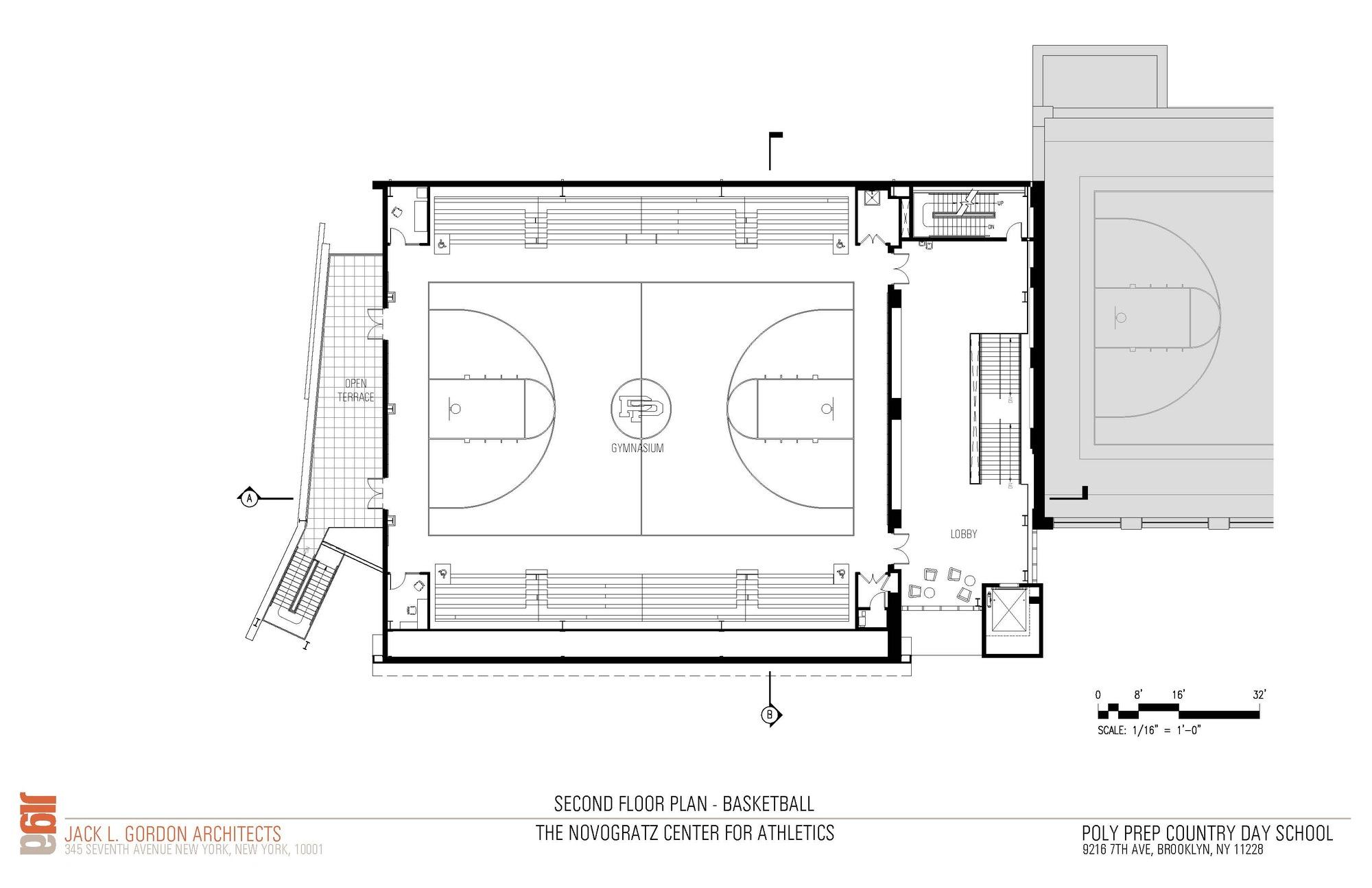 Basketball Court Floor Plan: Gallery Of Novogratz Center For Athletics / Jack L. Gordon