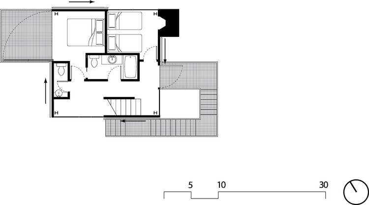 Captivating 2nd Floor Plan. © Olson Kundig