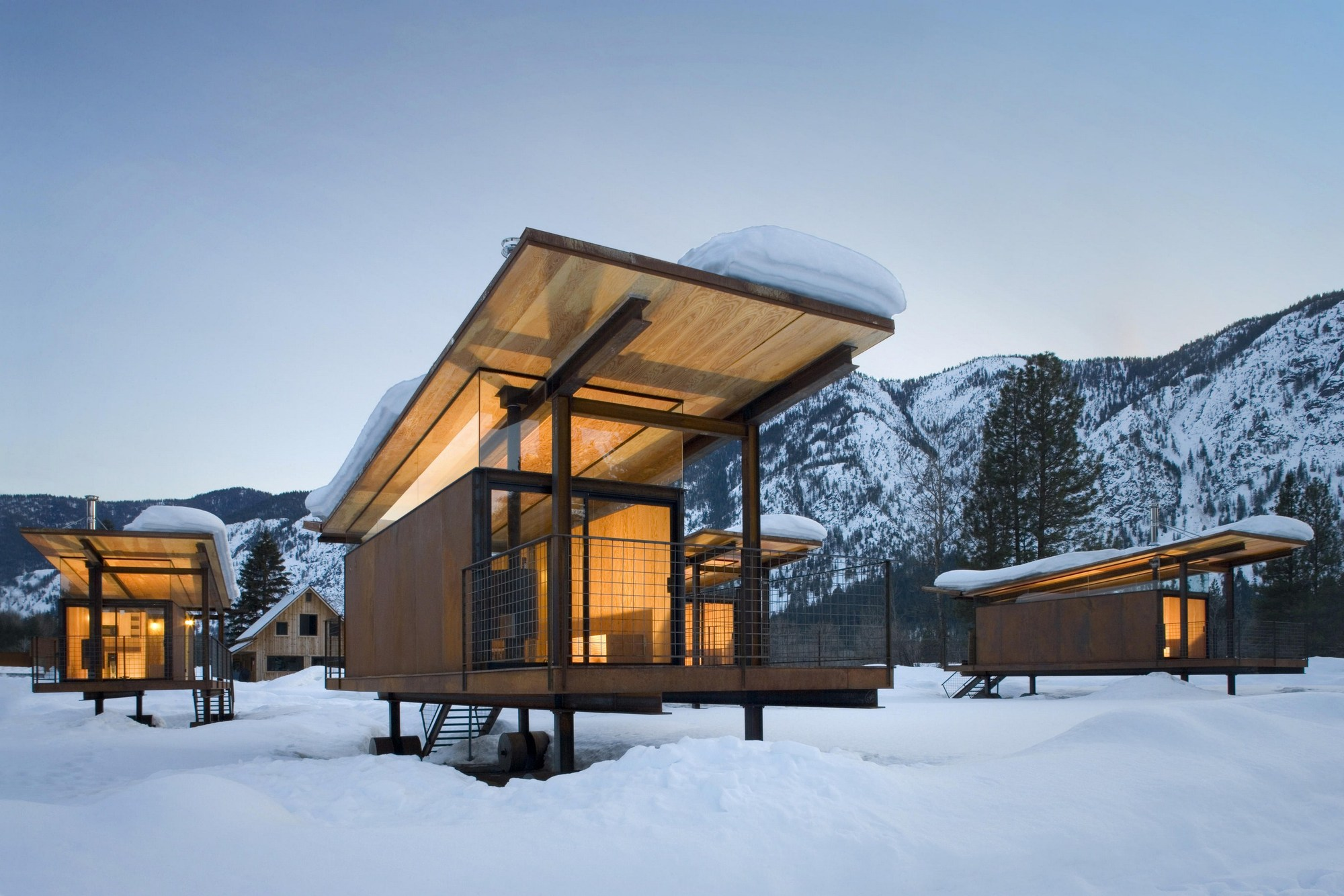 Rolling Huts Olson Kundig Archdaily