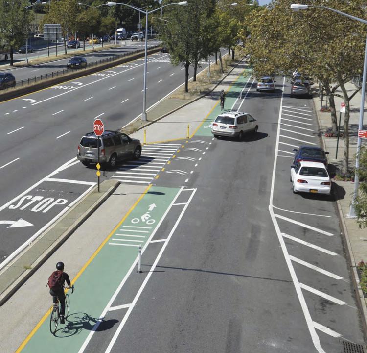 Nova Iorque aposta nas ciclofaixas para aumentar a segurança viária, © DOT Nova Iorque