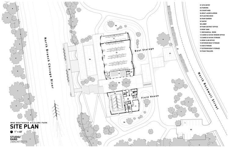 Wms boathouse at clark park studio gang archdaily for Boat house floor plans