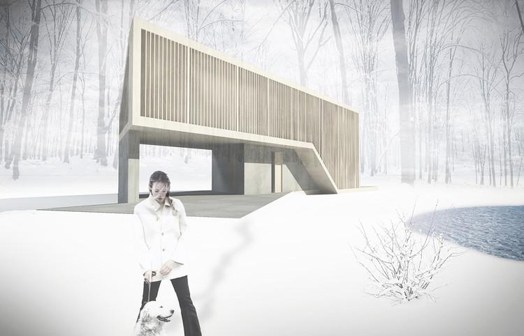 Desenho Sporaarchitects open-source para Paperhouses. Imagem Cortesia de Paperhouses