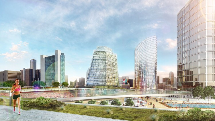 ROSSETTI Designs MLS Stadium and Mixed-Use Development for Detroit, Courtesy of ROSSETTI
